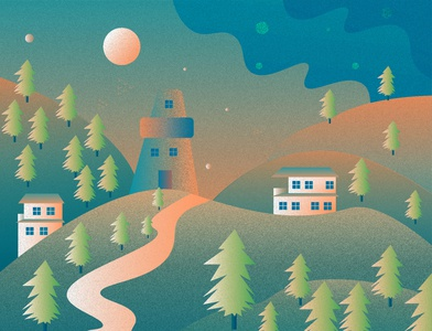 Village illustration colourful design nature illustration nature landscape design green village landscape illustration landscape vector portrait ui ux art website branding illustrator design graphic illustration folioart