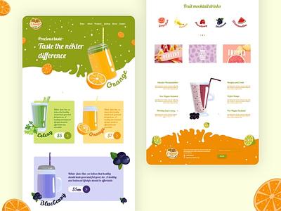 Juice bar web user interface design ux illustrator branding website juice bar web design agency ui ux web clean design clean logo ui-ux design user interface product designer food app design product design detail page ios app
