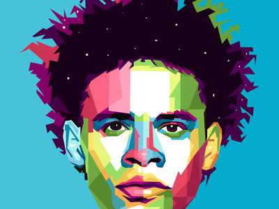 MANCITY Player WPAP Art Illustration soccer football club player manchester city mancity illustration art pop art popart wpap design graphic branding vector portrait typography illustrator website illustration