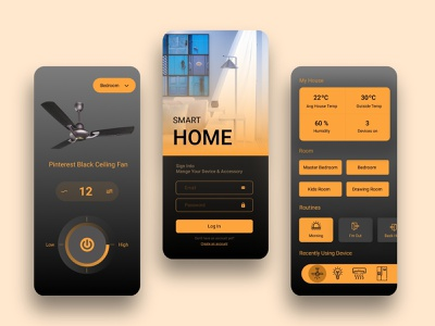 Smart Home Mobile Apps design smart home mobile app mobile apps design 2021 design 2021 trends ui ux logo branding illustration apps design.interaction apps design smart home app smart home design