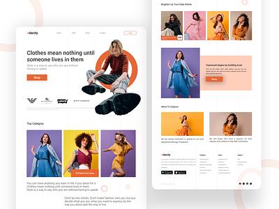 Fashion Brand Shop Web Interface website design webdesign shopping app shopping cart shop brand shop fashion brand web interface flat minimal logo icon graphic branding website ux ui design