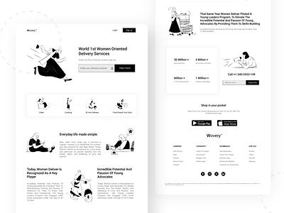 Delivery service web User interface graphic website branding illustrator typography webdesign web design agency web kits uiux user experience design userinterface order management food delivery service order food lyft gojek delivery services women oriented delivery services user interface design