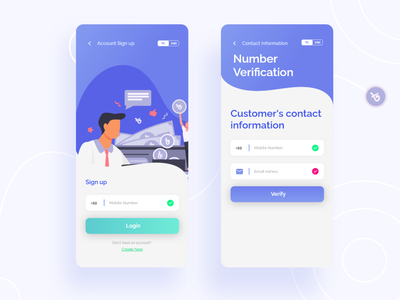 Customer login Page User Interface ux ui design illustration mobile application user interface mobile banking app banking app customer login page customer login page mobile application development mobile applications mobile design mobile ui mobile application design