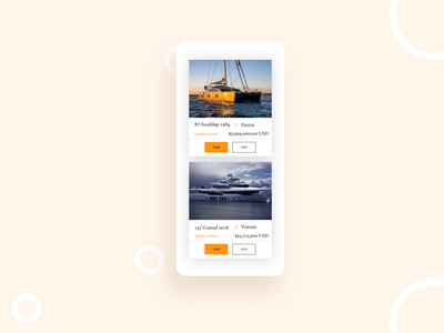 YACHT Sales services mobile application user experience mobile application cockpit website illustrator typography branding user interface uiux personal ship logo