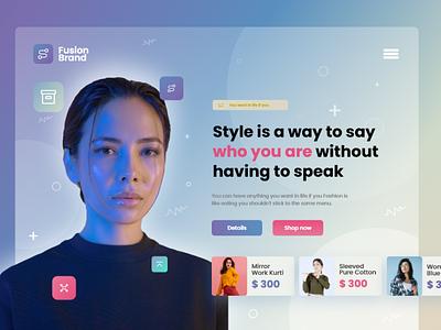 Fashion brand eCommerce landing page web design web creative business digital prototype webpage artificialintelligence design website e-commerce branding user interface uiux landing page
