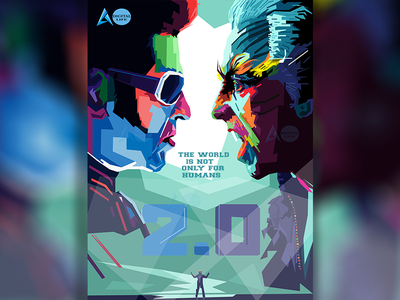 2.0  Movie Wpap  Poster website portfolio colors poly ui art pop graphic typography logo illustrator design vector portrait branding poster cover illustration wpap bollywood