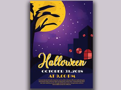 Halloween Poster graphic illustrator wpap design website illustration poster vector fest christian feast 31 october hallows day halloween poster