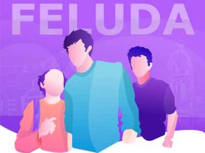 Satyajit Ray's Feluda comic art comic ux logo wpap typography website illustrator portrait graphic vector design art illustration india kolkata satyajit ray feluda