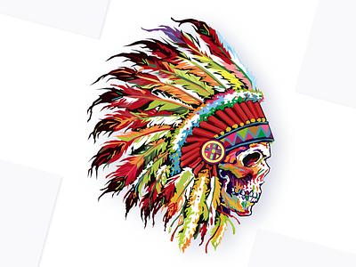 Native Amarican hawaiian indigenous americans american indian red indian native amarican art design wpap typography illustrator portrait graphic illustration