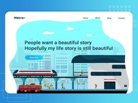 Metro Web UI illustration