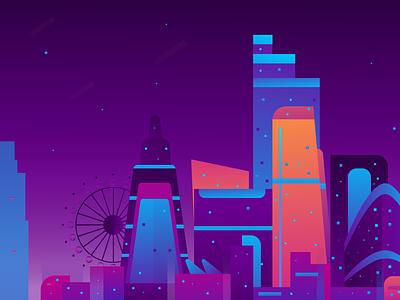 Skyline Illustration psd flat animation pop wpap typography design icon city illustration city builder skylines architectural design bulding skyline illustration branding website illustrator vector graphic illustration