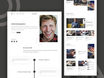 Personal Blog site user interface design