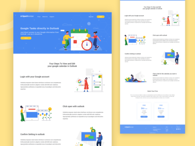 A cloud based service web interface design