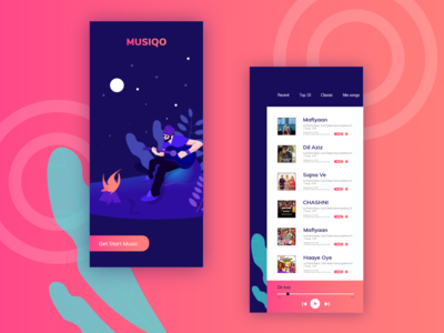 Music apps concept