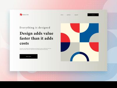 Creative Design Web User Interface