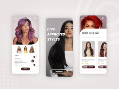 Hair Wigs eCommerce  mobile apps