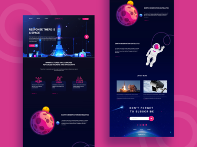 Spaceone landing page design user experience user interface elon musk spacex landing page spacex web designer spaceone landing page spaceone landing page landing page illustration illustrator art landing page design illustrator design illustrator landing page concept