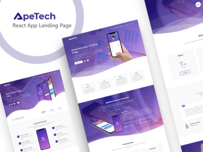 Apetech - React App Landing Page