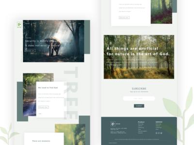 Nature Landing page design