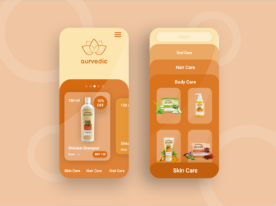 Ayurvedic Product mobile apps design