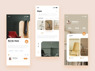 Decoration Style app ui design
