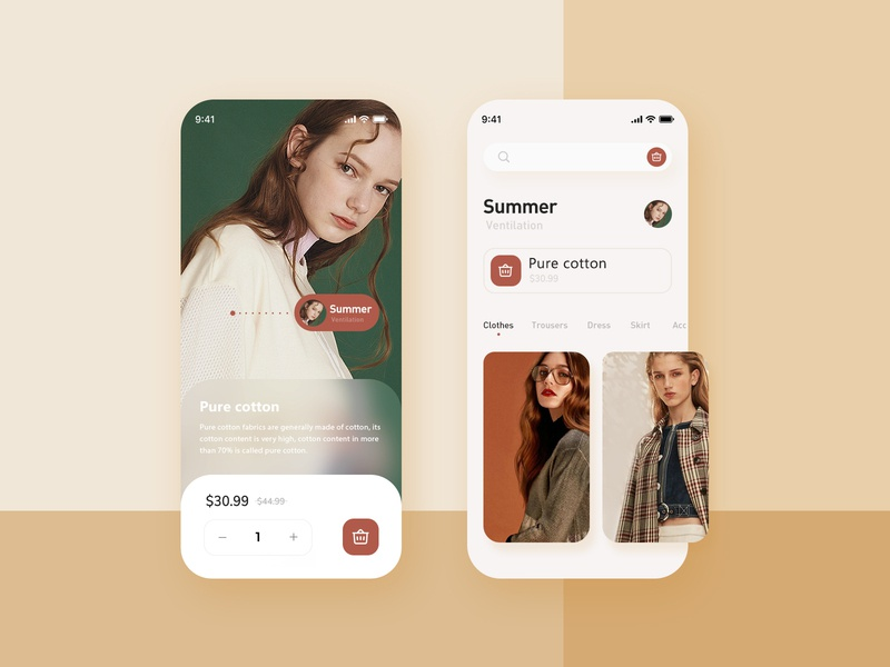 UI-Fashion women's wear design ui