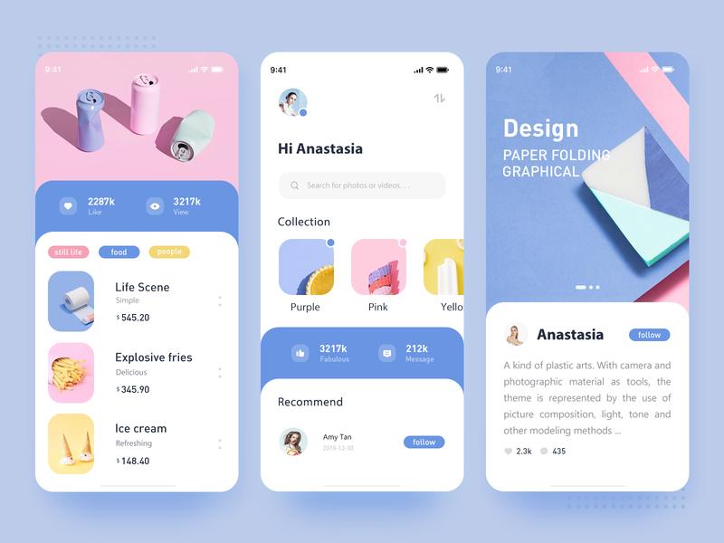 Ice Cream Color - UI design ux ui
