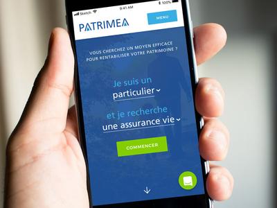 Patrimea - Natural Language Form web design natural language green blue mobile form