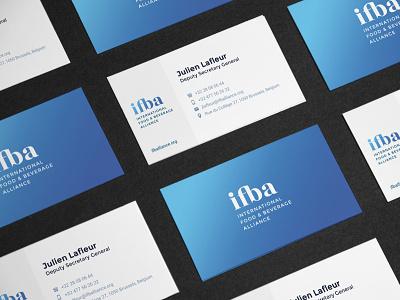 ifba business cards business cards blue branding ifba