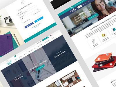 Quo Vadis redesign web design website ui