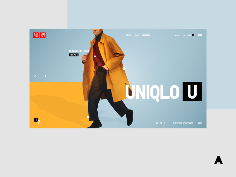 Uniqlo U colorful interface mobile shop web promo agima design minimal ui clean