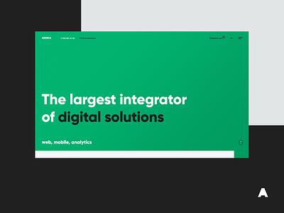 AGIMA solutions integration web clean branding minimal digital analytics mobile website studio agency interface agimadesign