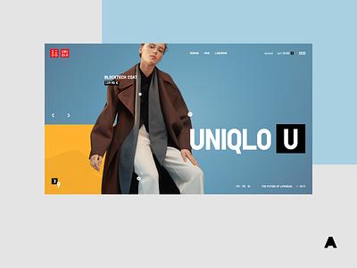 Uniqlo U vogue fashion colorful agima store shop uniqlo minimal interface clean agimadesign