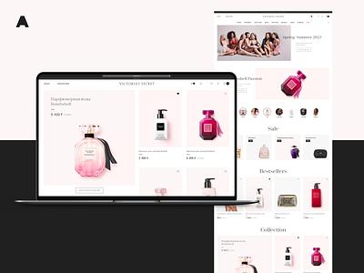 Victoria's Secret vogue model fashion perfume ux web shop agima ui minimal interface clean