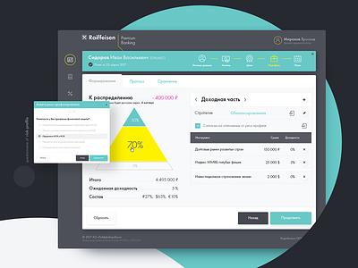 Raiffeisen ux ui bank interface web