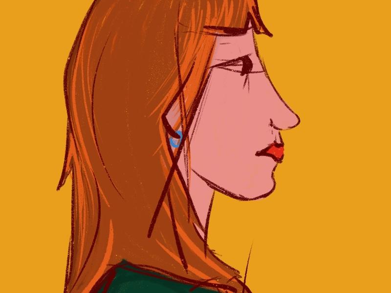 Side Profile doodles artist art illustrations