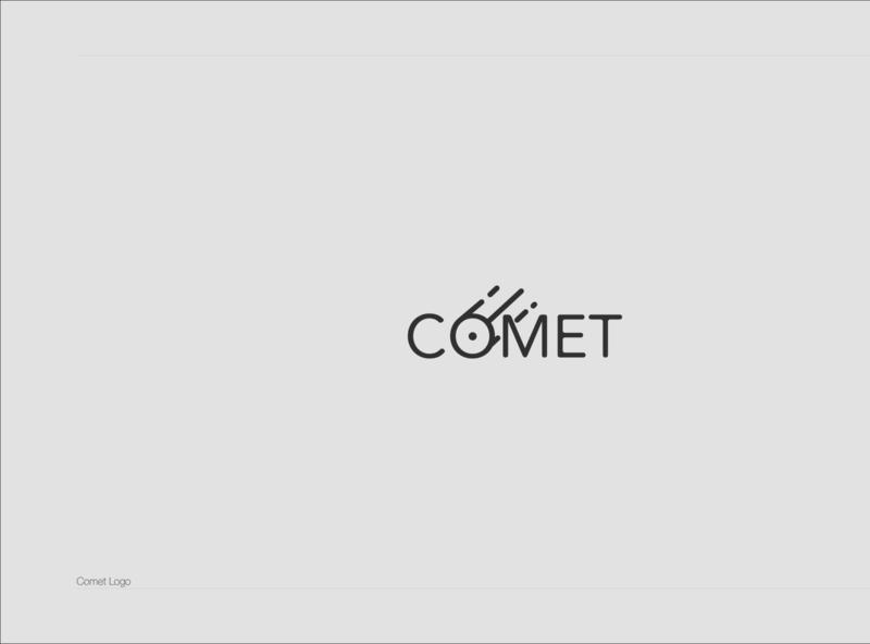 Comet logo logodesign vector app icon typography illustration minimaldesign aesthetics branding