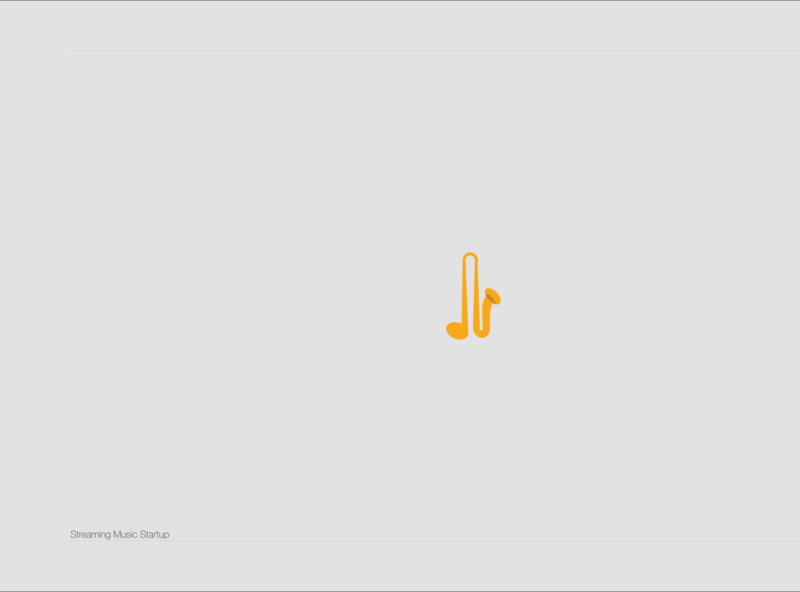 Streaming music Start-up flat geometric ui typography ux app logo minimaldesign aesthetics branding