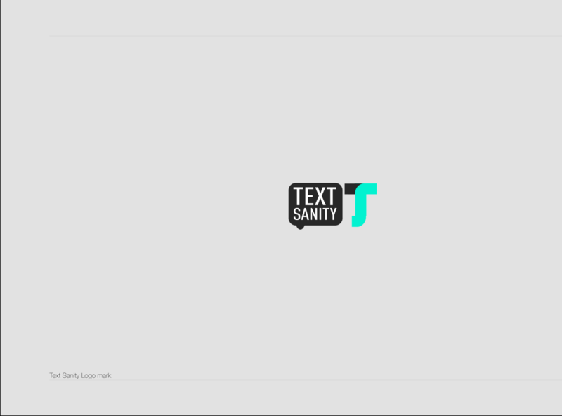 Text Sanity Logo flat vector design illustration icon ui designmatters logodesign aesthetics branding