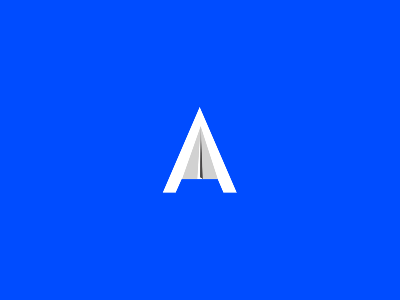 A Logo flat typography illustration geometric logo ui aesthetics designmatters minimaldesign branding