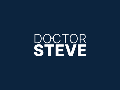 Dr. Steve Logo app logo design typography illustration geometric designmatters aesthetics minimaldesign branding
