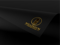 Millenium Promotions logo minimal vector logo typography illustration geometric designmatters aesthetics minimaldesign branding
