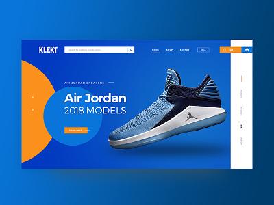 Klekt - Re-design website website design design portfolio yassine orange blue ux ui