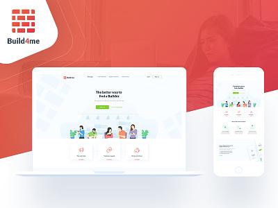 Build4me webdesign website design design portfolio zidane yassine orange ux ui