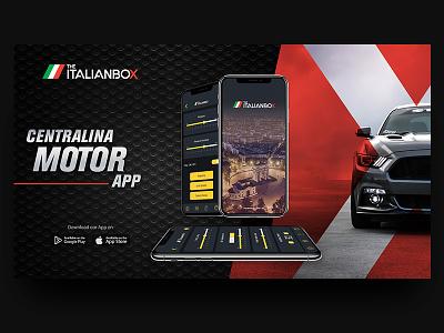 The Italian Box mobile design design portfolio yassine red black ux ui