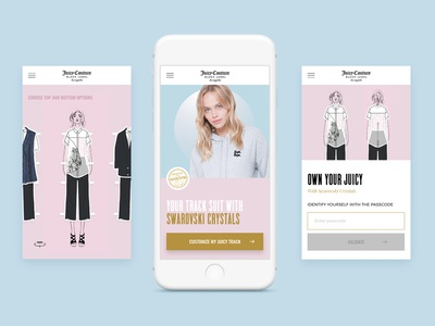 Juicy Couture with Swarovski customisation fashion interaction mobile uiux
