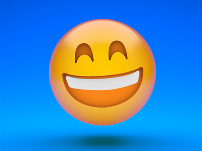 Awkward laugh socialnetworks emoji adobe maxon cinema4d motion illustration animation