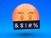Angry emoji with sound