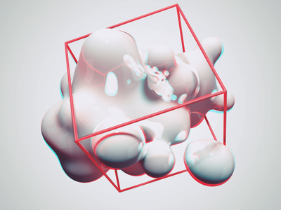 Immersive Cube loop illustration after affects c4d animation
