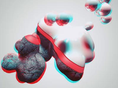 Blob c4d after effect illustration loop animation